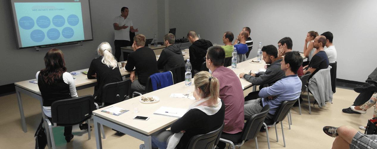 Foto z přednášky na Jihočeské univerzitě v Českých Budějovicích